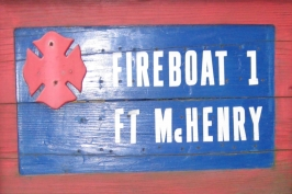 Fireboat Ft. McHenry Sign